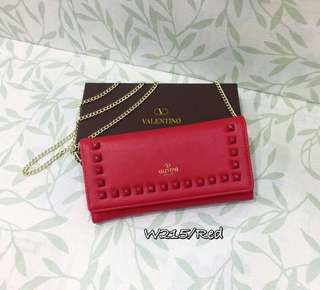 Valentino Wallet On Chain Red Color