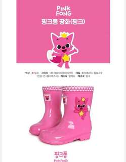 【韓國直送】Pink fong 水鞋