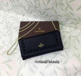 Valentino Wallet On Chain Black Color