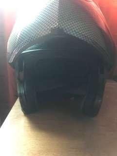 Motorcycle carbon fibre design Modular Helmet L size