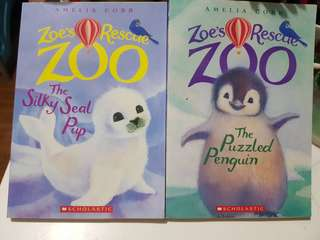 Zoe's Recue Zoo Bundle of 2 Books