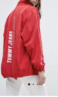 Tommy jeans red coach jacket