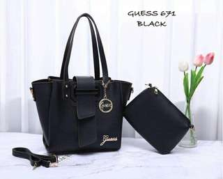 GUESS Handbag 2 in 1 Black Color