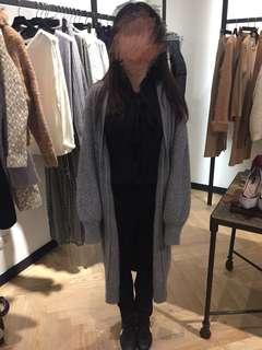 Chole chen純羊毛針織長板外套