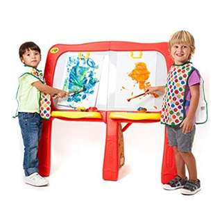 BN Crayola Super-Duper Art Studio Magnetic Dry-Erase Chalk Easel Board for Kids