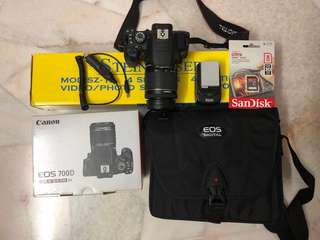 Preowned Canon EOS 700D Digital Camera (Full set)