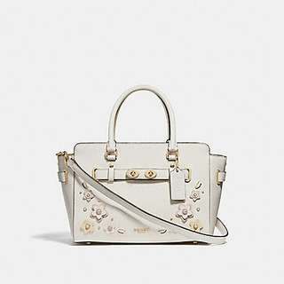 BLAKE CARRYALL 25 WITH FLORAL APPLIQUE. Style no. 31195