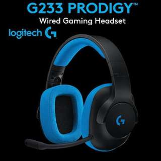 [BNIB] Logitech G233 Prodigy Gaming Headset for PC, PS4, PS4 PRO, Xbox One, Xbox One S, Nintendo Switch