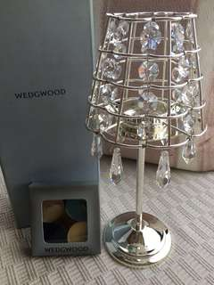 Wedgwood crystal candle holder table lamp chandelier