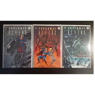 Superman Vs Aliens #1,#2,#3 (1995) Set of 3, DC/Dark Horse Comics Spectacular!