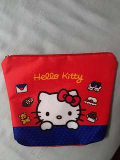 Hello Kitty Kit Kat Pouch with free Hello Kitty Keychain