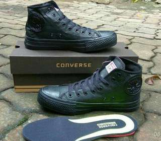 Sepatu Converse, All Star Ct Kulit Gum High (Grade Ori)
