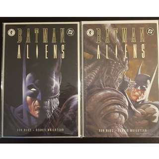 Batman Aliens #1,#2 (1997) Set of 2, DC/Dark Horse Awesomeness! Rare Books!