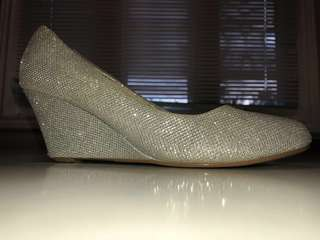 Glittery silver shoes