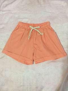 🚚 休閒粉橘色口袋短褲