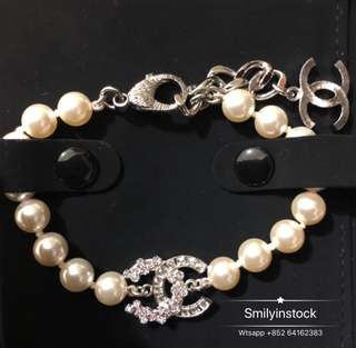 Chanel 閃石珍珠手鏈