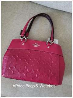 💯 Authentic Coach Mini Brooke Carryall in Hot Pink