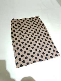 Mini polkadot skirt