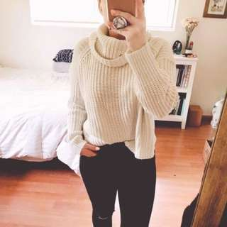 Mossimo Cropped Knit Turtleneck