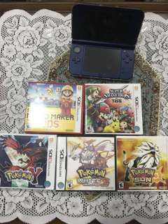 (used) New Nintendo 3DS XL w 5 Games + Accessories