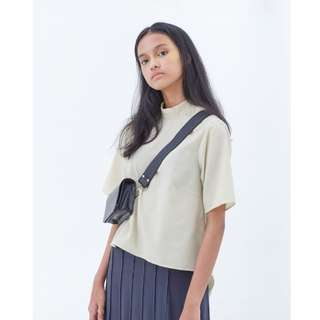 NIKICIO Buttermilk Beige Olivia Tied Back Top ( NEW )