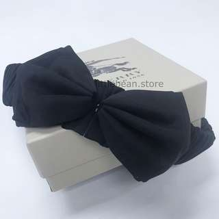 【Burberry】 Silk Belt Bow Tie Black (S size)