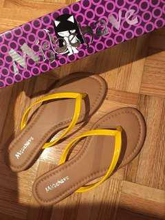 Yellow sandals size 5.5 women's