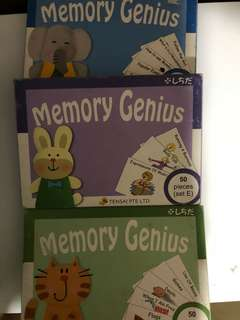 Shichida Flash Cards Memory genius set D,E,F