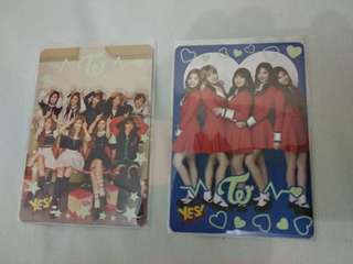 Twice yes card 夜光 專輯 第2代 yes 卡