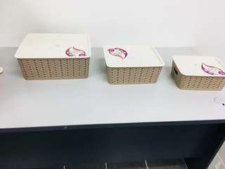 3PCS STORAGE BASKET
