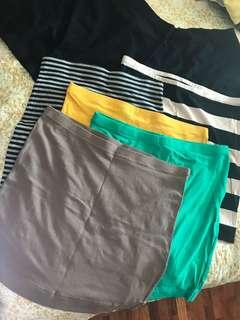 H&M bandage skirts