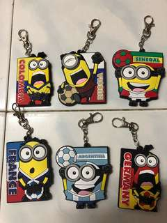 Keychains world cup minions 2018