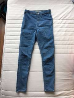 Topshop High-Waisted Blue Joni Jeans