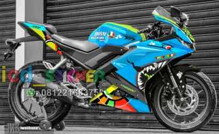 Decal yamaha r15 v3 shark blue