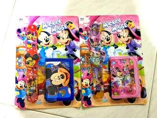 Mickey Minnie Digital Watch and Wallet Set - Goodie Bag