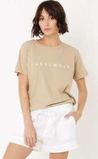 Assembly tee size 8- New Without Tags