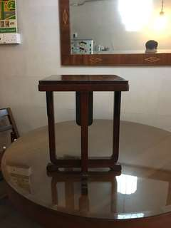 Teak wood u leg side table
