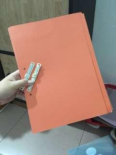 A4 Hardcover Orange Folder (with Fastener)