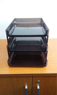 3 layers flexible doc trays - good quality with thick plastic