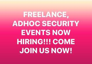 Freelance Events Security!