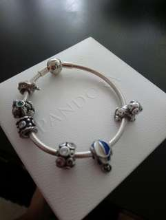 Pandora bracelet and charms. Authentic.