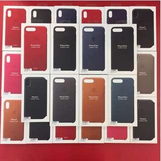 🚚 1月促銷 正原廠 Apple iphone 8 plus 原廠矽膠護套 皮革背蓋 7plus共用 台灣公司貨 假一賠十