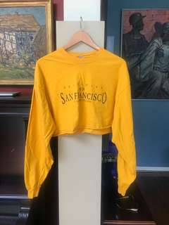 vintage cropped yellow long sleeve