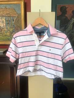 vintage cropped tommy polo shirt