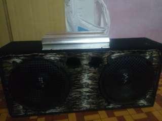 Speaker box mohawk 12 inci 2 bijik siap power M