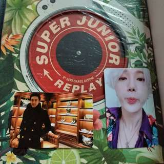 Super Junior Replay Photocards