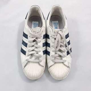 Adidas Superstar with Blue 3-Stripe Size 6.5 Men's / 8.5 Women's