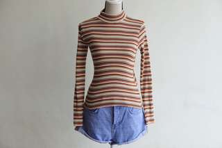 Multi-coloured Striped Pullover Top