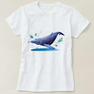 水彩鯨魚 T-shirt