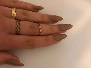 Gold ring trio